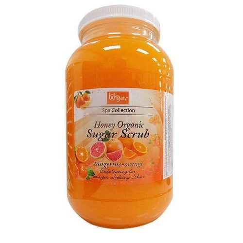 BE BEAUTY - Honey Organic Sugar Scrub - Tangerine-Orange (1 Gallon)
