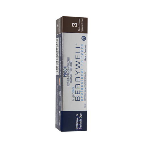 Berrywell Eyebrow And Eyelash Tint #3 Natural Brown 15ml