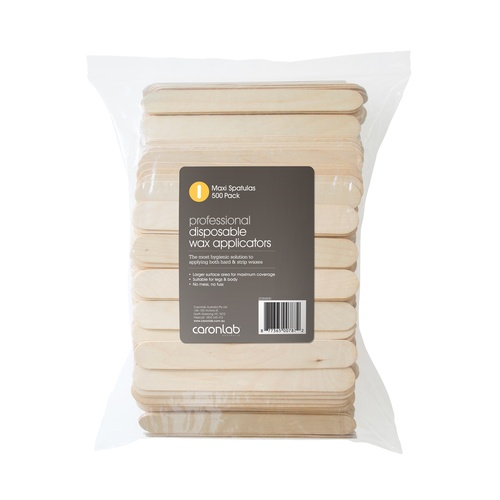 Caronlab Disposable Wooden Spatula Maxi 500pcs
