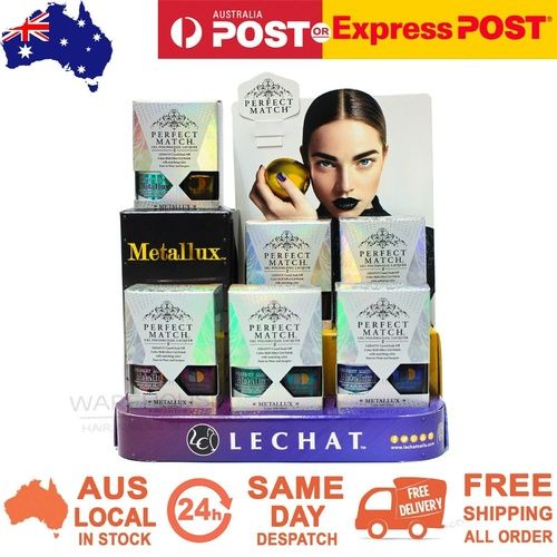 LeChat Perfect Match Metallux Collection Soak Off Gel Polish + Nail Lacquer Duo